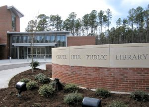 Image of exterior of Chapel Hill Public Library Entrance