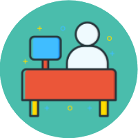 online job searching class icon