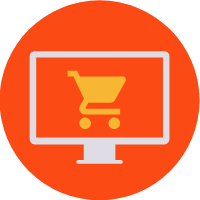 online shopping class icon